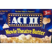Act Ii Microwave Popcorn Movie Theatre Er