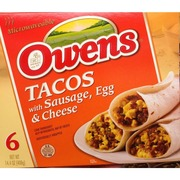 Owens Tacos, Sausage, Egg & Cheese: Calories, Nutrition Analysis & More | Fooducate