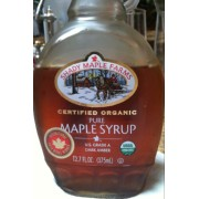 Calories in organic maple syrup