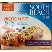 south beach diet cinnamon raisin bars