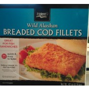 Trident wild alaskan breaded cod fillets calories for Cod fish nutrition