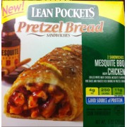 Lean Pockets Pretzel Bread Sandwiches Mesquite BBQ Chicken