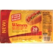 Oscar Mayer Hot Dogs Wieners, 20 ct