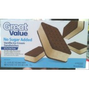 Great Value Ice Cream Sandwiches, No Sugar Added, Vanilla: Calories,  Nutrition Analysis & More   Fooducate