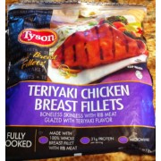 Tyson Teriyaki Chicken Breasts Fillets Calories Nutrition Analysis Amp More Fooducate