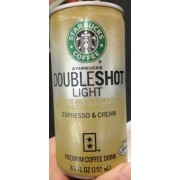 Starbucks Doubleshot Light Espresso Cream Coffee Drink