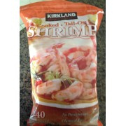 kirkland signature cooked tail on shrimp calories nutrition analysis more fooducate. Black Bedroom Furniture Sets. Home Design Ideas