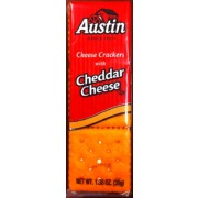 Austin Cheese Crackers with Cheddar Cheese, 1.38 oz, 27 ...  |Austin Cheddar Cheese