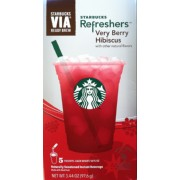 Starbucks Refreshers Very Berry Hibiscus Calories Nutrition