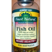 Finest natural omega 3 fatty acids fish oil calories for Finest nutrition fish oil