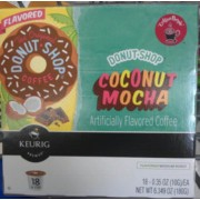 Donut Shop Keurig KCup Coconut Mocha Flavored Medium Roast Coffee