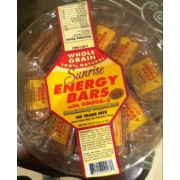 Sunrise Whole Grain 100% Natural Energy Bars with Omega-3: Calories, Nutrition Analysis & More ...