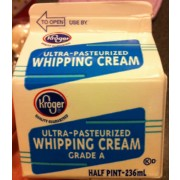 Kroger Ultra-Pasteurized Whipping Cream: Calories ... Kroger Whipping Cream
