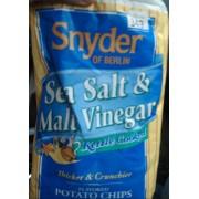 Snyder Of Berlin Sea Salt Malt Vinegar Kettle Cooked