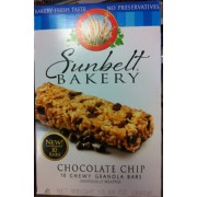 Sunbelt Bakery Chewy Granola Bars, Chocolate Chip: Calories, Nutrition Analysis & More | Fooducate