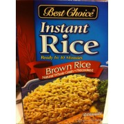 Best Choice Instant Brown Rice: Calories, Nutrition