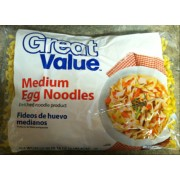 Great Value Medium Egg Noodles: Calories, Nutrition Analysis ...