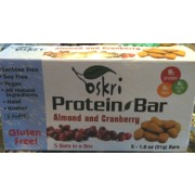 Oskri Almond & Cranberry Protein Bar: Calories, Nutrition ...