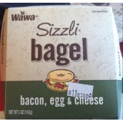 Wawa Sizzli Bacon,Egg & Cheese Bagel: Calories, Nutrition Analysis ...