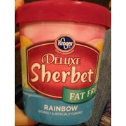 Kroger Deluxe Rainbow Fat Free Sherbet: Calories, Nutrition Analysis & More | Fooducate