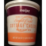 Meijer Small Curd Cottage Cheese Calories Nutrition