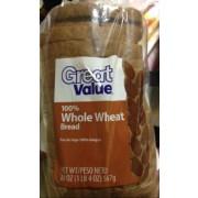 Great Value 100 Whole Wheat Bread Nutrition Grade B Minus 120 Calories