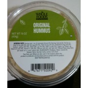 Whole Foods Market Original Hummus: Calories, Nutrition Analysis & More   Fooducate
