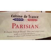 cuisine de france parisian french bread: calories, nutrition