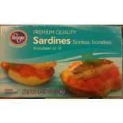 Kroger sardines skinless boneless in soybean oil for Fish sauce kroger