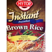 Hy-Top Instant Precooked Brown Rice: Calories, Nutrition Analysis & More | Fooducate