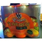 V8 V-Fusion Vegetable & Fruit Energy Drink: Calories, Nutrition Analysis & More | Fooducate