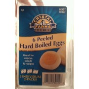 Crystal Farms Peeled Hard Boiled Eggs: Calories, Nutrition Analysis & More | Fooducate