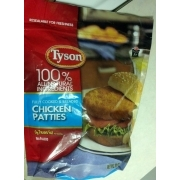 Tyson Chicken Patties, Cooked and