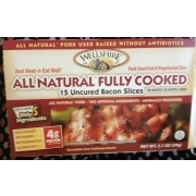 Natural Fully Cooked Bacon Slices
