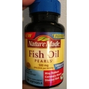 Nature made fish oil pearls dietary supplement calories for Is fish oil bad for you