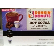 Dunkin Donuts Milk Chocolate Hot Cocoa, K Cups: Calories ...