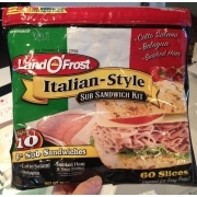 Land O'Frost Sub Sandwich Kit, Italian-Style: Calories, Nutrition Analysis & More | Fooducate