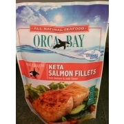orca bay keta salmon fillets calories nutrition analysis more fooducate. Black Bedroom Furniture Sets. Home Design Ideas