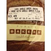 Publix Bakery 100% Whole Wheat Bread
