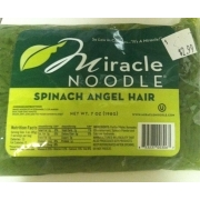 Miracle Noodle Spinach Angel Hair Noodle Calories Nutrition