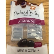 Orchard Valley Dark Chocolate Almonds Calories