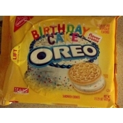 Nabisco Oreo Birthday Cake Creme Golden Calories Nutrition