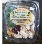 Trader Joe's Broccoli Slaw & Kale Salad with White Chicken Meat: Calories, Nutrition Analysis ...