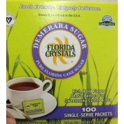 FLORIDA CRYSTALS DEMERARA CANE SUGAR PACKETS 12/100ct