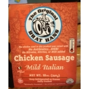 The Original Brat Hans Mild Italian Chicken Sausage Calories