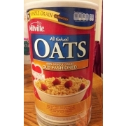 Millville All Natural Oats, 100% Whole Grain Old Fashioned: Calories, Nutrition Analysis & More ...