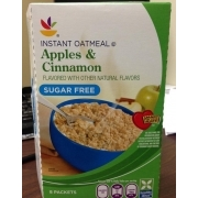 Instant oatmeal apples and cinnamon