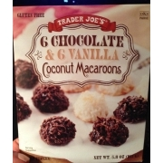 Trader Joe S Chocolate Vanilla Coconut Macaroons Calories Nutrition Analysis More Fooducate