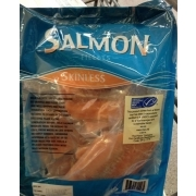 Wal mart salmon fillets calories nutrition analysis for Walmart frozen fish