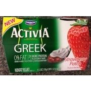 Dannon Activia Greek Yogurt, Strawberry Patch. nutrition ...